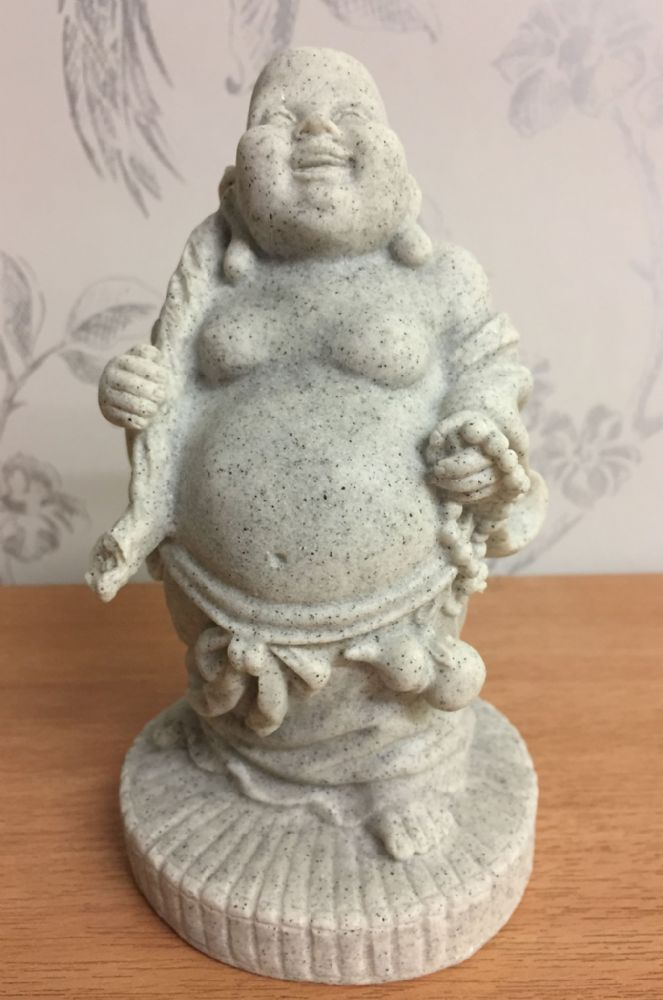 Stone Effect Standing Lucky Buddha Ornament - C